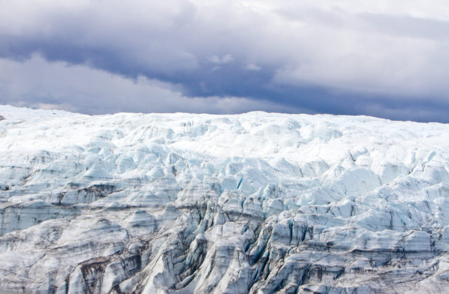A new study suggests the Greenland Ice Sheet did not fully melt during previous periods of global warming — and that it preserved a tundra beneath it. Joshua Brown/ University of Vermont