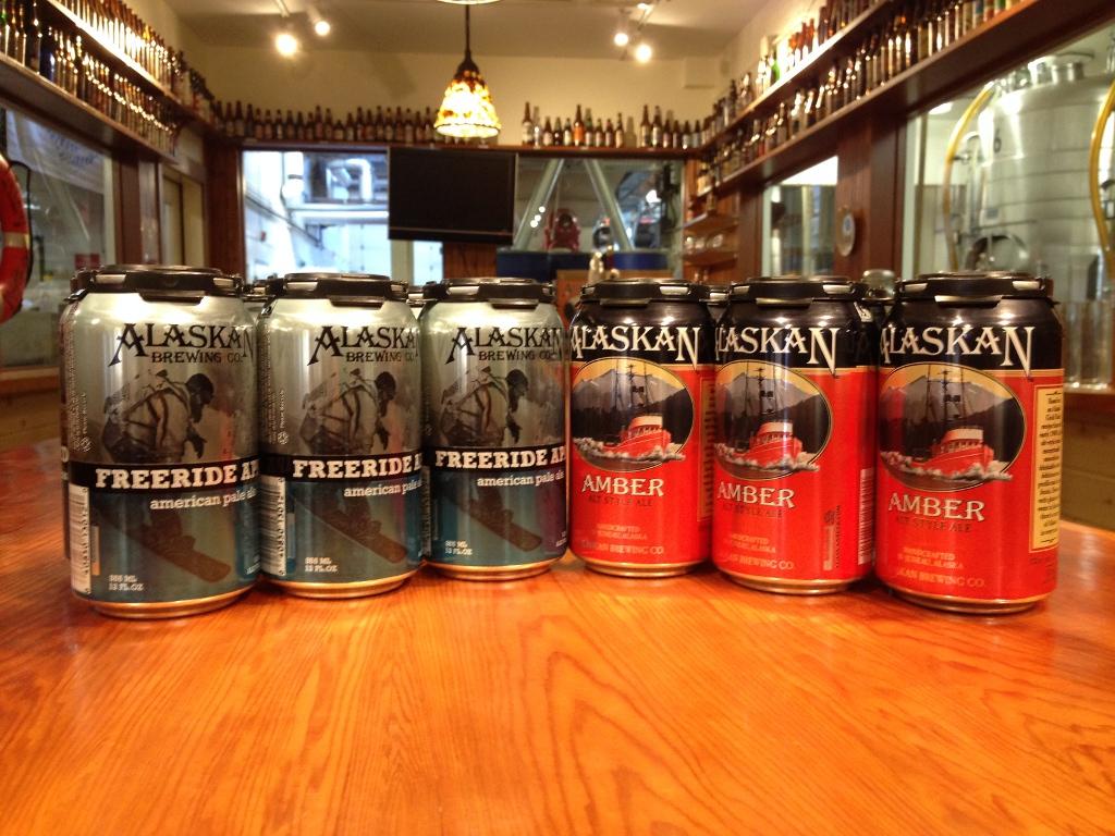 Alaskan Brewing Co. cans