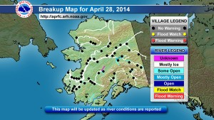Click to find the most recent National Weather Service breakup maps.