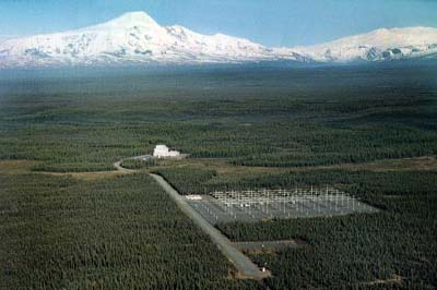The HAARP facility near Gakona, Alaska. (Wikimedia Commons)