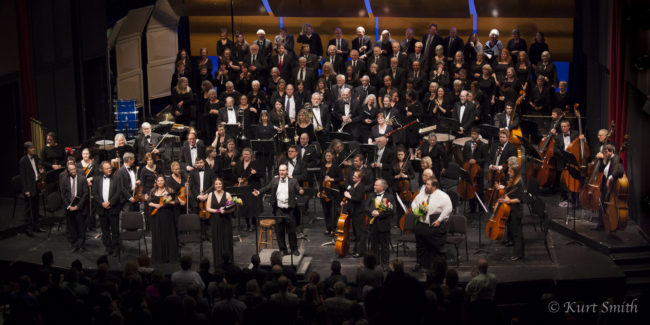 The Juneau Symphony and Juneau Symphony Chorus performed the Mozart Requiem, April 5 & 6, 2014, (Photo by Kurt Smith)