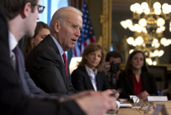 A White House task force on sexual assault at college campuses issued new guidelines Tuesday, asking colleges to survey students about their experiences. The task force was headed by Vice President Biden's office and the White House Council on Women and Girls, which is led by Tina Tchen. Carolyn Kaster/AP