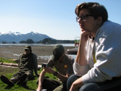 Sitka park rangers take tips from the the Dauenhauers on how to engage tourists. (KCAW photo/by Emily Forman)