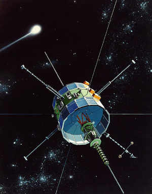 Whatever name it sailed under — International Sun-Earth Explorer 3, and International Cometary Explorer, among others —- this spacecraft has scored a number of firsts over the years, including the first comet flyby. NASA Goddard Spaceflight Center