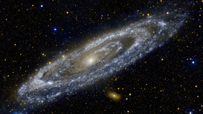 Astronomers thought they saw a big explosion in the nearby Andromeda galaxy. GALEX, JPL-Caltech/ NASA