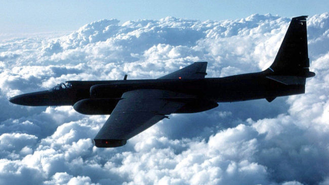 The Air Force's U-2 spy plane first took flight in August 1955. One of the planes confused air traffic control computers in California last week, creating havoc. USAF/Getty Images