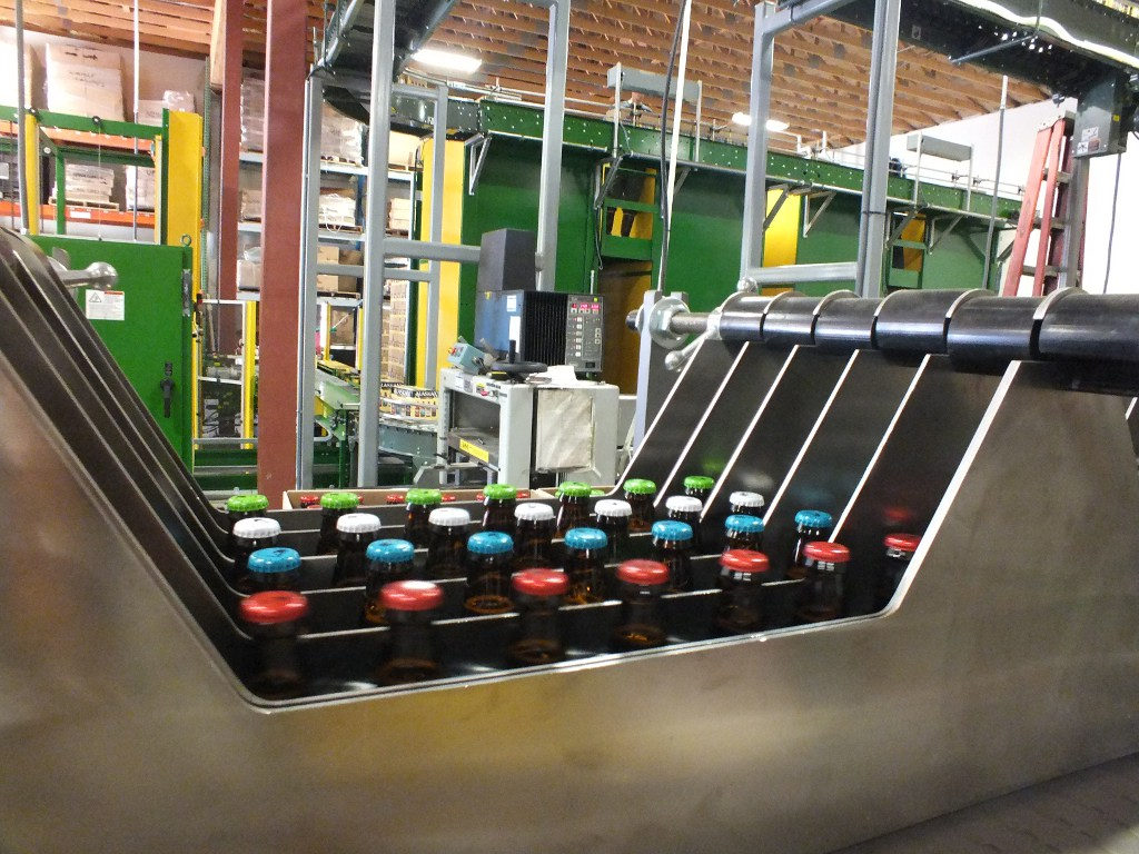 A packaging line at the Alaskan Brewing Co. plant in Juneau. (Photo by Casey Kelly/KTOO)