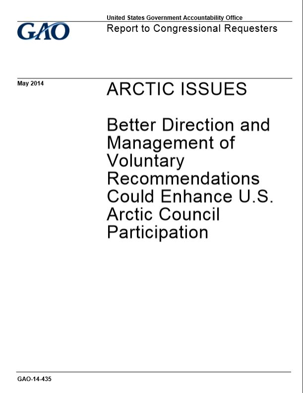Click to read the Arctic Council participation report