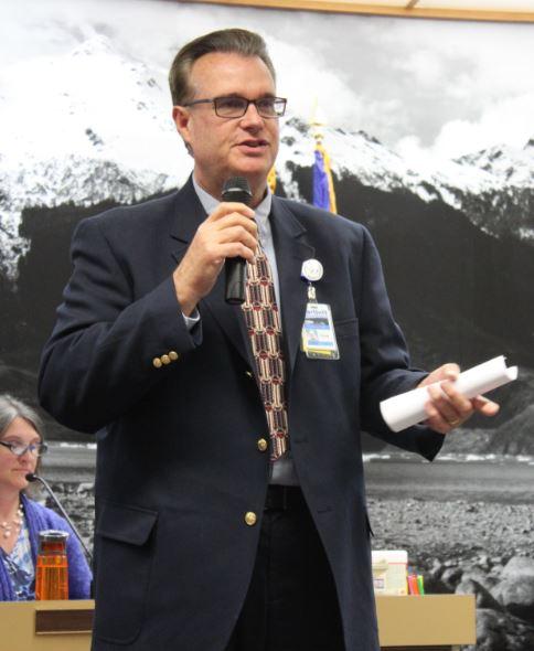 Bartlett Regional Hospital CEO Chuck Bill. (Photo by Lisa Phu/KTOO)