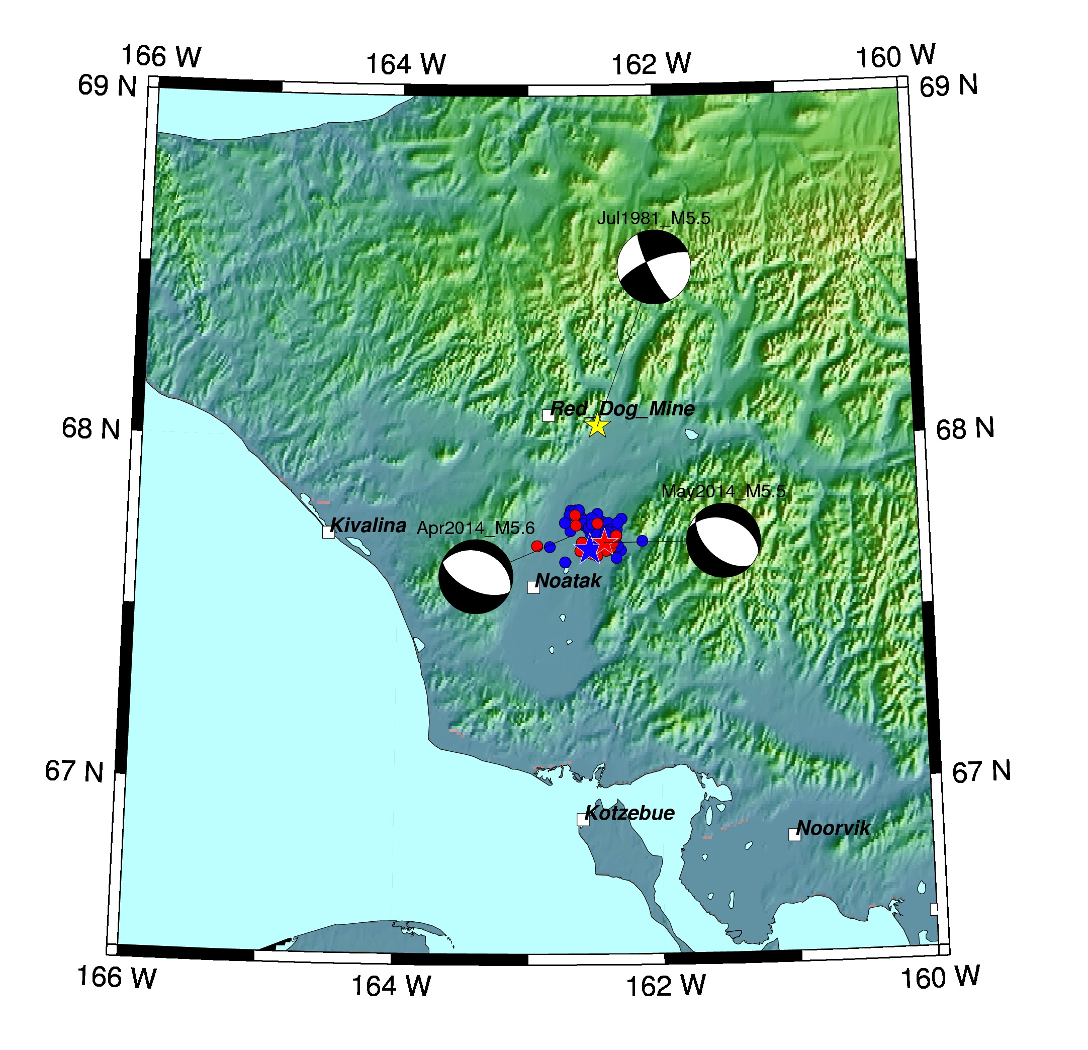 (Map courtesy of the Alaska Earthquake Information Center)
