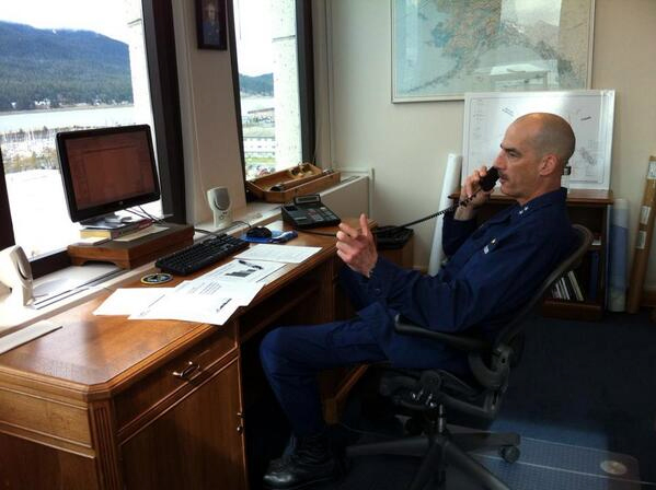 Rear Adm. Thomas Ostebo, commander of the U.S. Coast Guard in Alaska (USCG photo)