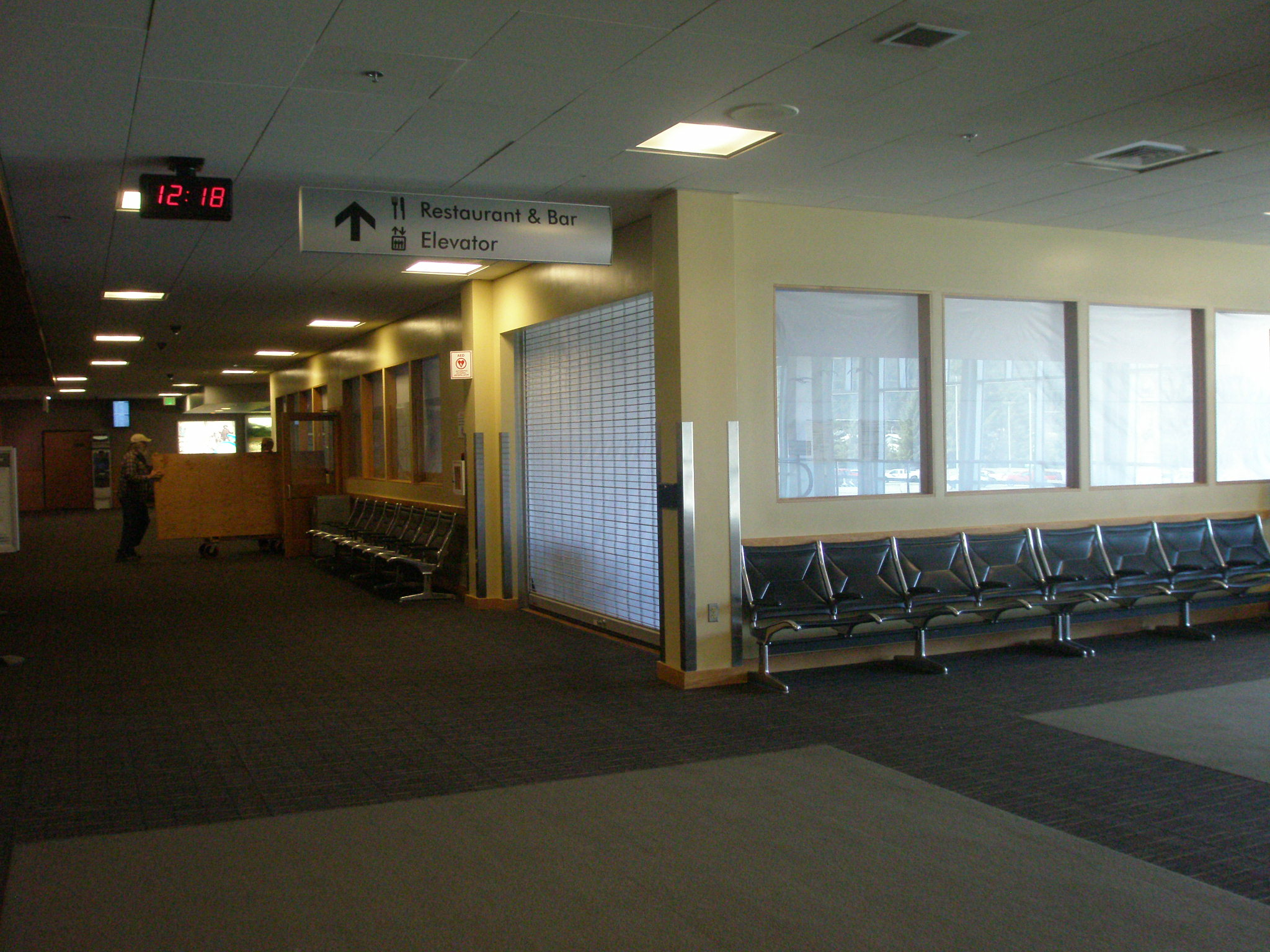 The Juneau airport lounge is closed for May and will reopen in June. (Photo courtesy of Juneau International Airport)