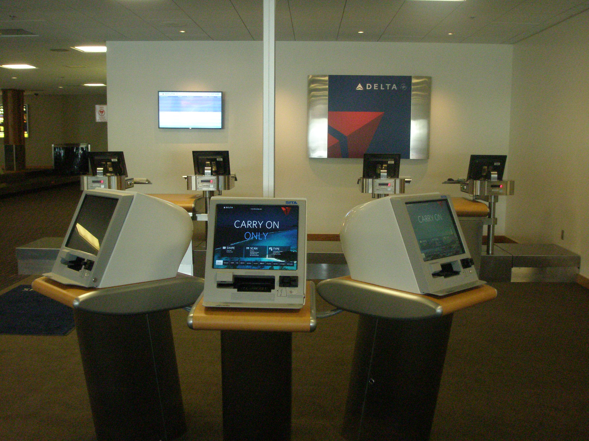 The new Delta check-in counters at Juneau International Airport. Flights start May 29. (Photo courtesy of Juneau International Airport)