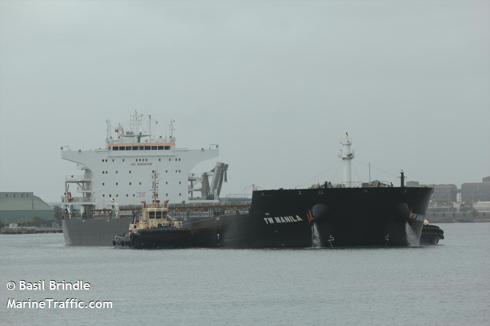 The TW Manila leaving port in Australia in 2013. (Courtesy: Basil Brindle/MarineTraffic.com)