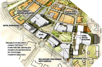 The CBJ Comprehensive Plan designates the Willoughby District as a cultural center in Juneau. (Image courtesy of James Bibb/North Wind Architects)