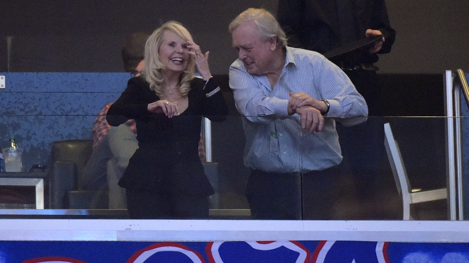 "Los Angeles Clippers co-owner Shelly Sterling, left, has announced a ""binding contract"" to sell the team to former Microsoft executive Steve Ballmer for $2 billion. Any sale of the team would require the NBA's approval before it is made official. Mark J. Terrill/AP"