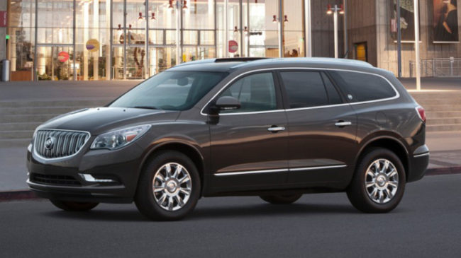 A new GM recall over defective fuel gauges affects the 2014 Buick Enclave (seen here), along with the Chevrolet Traverse and GMC Acadia. AP