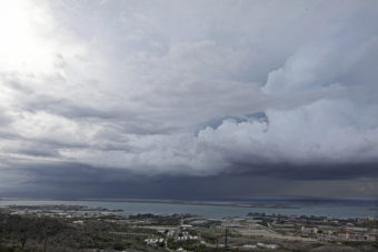 Clouds cover the sky over Guantanamo Bay, Cuba. Pool/Getty Images
