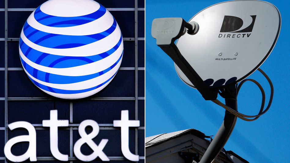 """""""I was scratching my head,"""" one analyst says of news that AT&T will acquire satellite TV company DirecTV for $48.5 billion in cash and stock, or $95 per share. Analysts are mixed in their reactions to the deal. Seth Perlman, Reed Saxon/AP"""