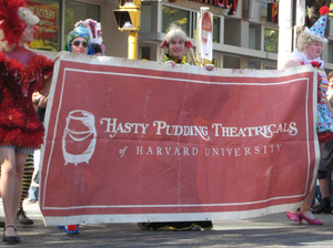 "Harvard's Hasty Pudding Theatricals. According to a recent Gallup poll, only 2 percent of college graduates with $20,000 to $40,000 in undergraduate loans said they were ""thriving."" TPapi/Flickr"