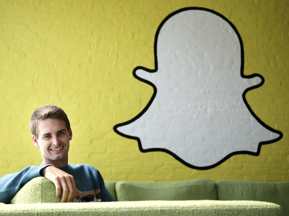 Snapchat CEO Evan Spiegel poses for photos, in Los Angeles, last year. The company has come under fire for violating promises to delete customer data. Jae C. Hong/AP
