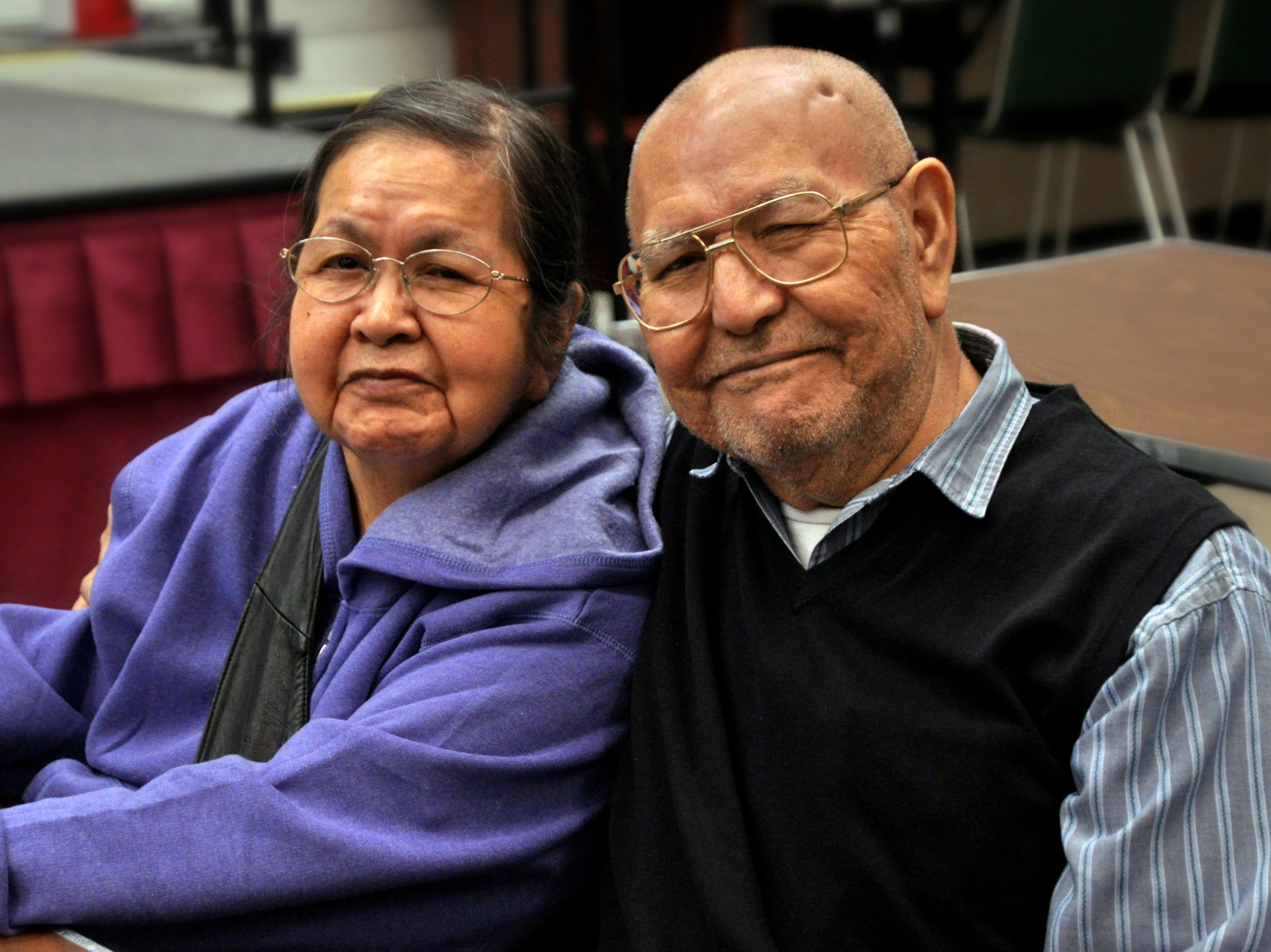 Lillian & Harvey Marvin at a Tlingit & Haida Central Council Native Forum luncheon. (Photo courtesy of Jodi Garrison)