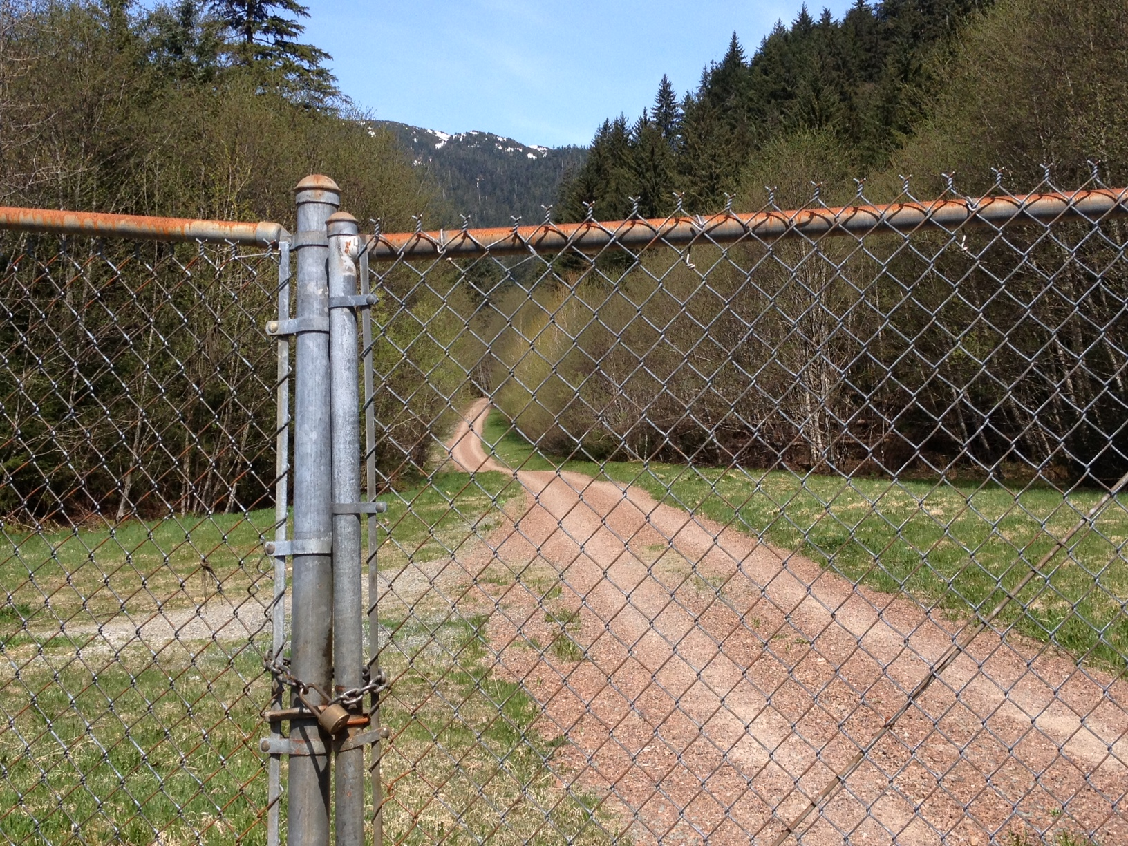 Sandra Gelber's body was found in the water off Salmon Creek Trail about a mile from the gate. (Photo by Lisa Phu/KTOO)