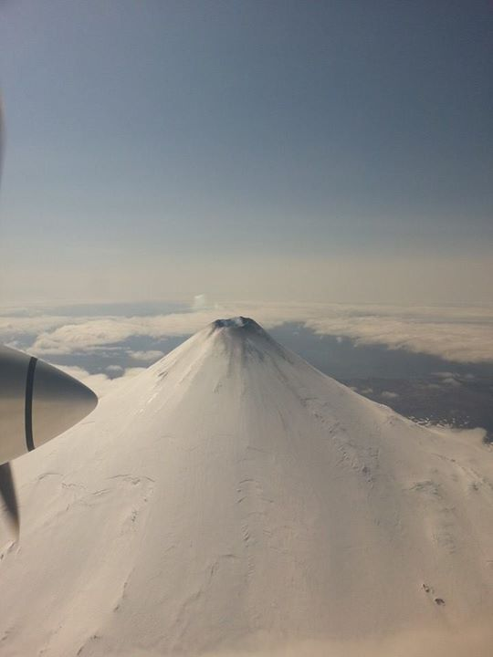 Mt. Shishaldin seen from the air on May 7, 2014. (Photo courtesy of Meghan Bliss)