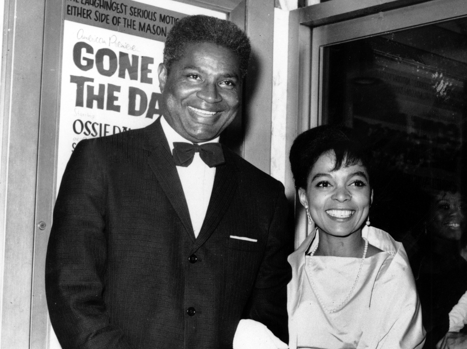 Ossie Davis and Ruby Dee at the opening night gala of their film Gone Are the Days! in 1963. The movie was based on Davis' play Purlie Victorious. AP