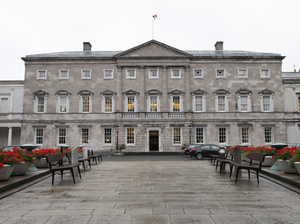 Leinster House is home to the upper house of the Irish parliament. Some members are calling for an investigation into children's deaths and burials at church-run homes. Peter Muhly/AFP/Getty Images
