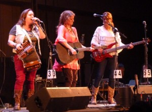 2014 Guest Arists Bonsoir, Catin from Louisiana perform on the main stage. (Ed Schoenfeld/CoastAlaska)