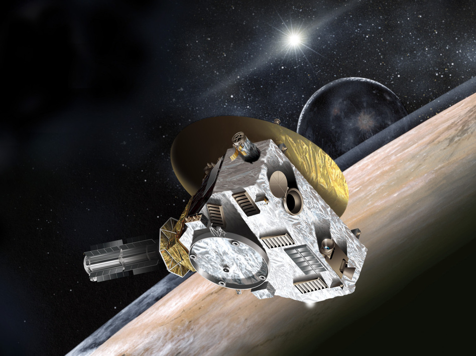 Artist concept of New Horizons spacecraft. The Hubble Space Telescope is being pressed into service to help scientists look for a post-Pluto target for the space probe. Johns Hopkins University Applied Physics Laboratory/Southwest Research Institute