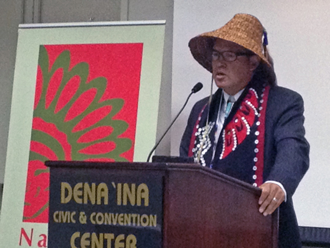 NCAI president Brian Cladoosby. (Photo by Lori Townsend, APRN – Anchorage)
