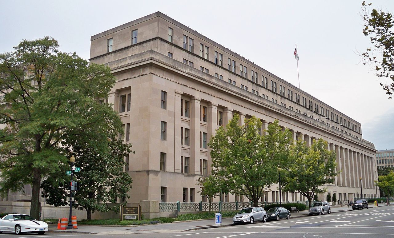 The United States Department of the Interior building in Washington, DC. (Photo by Matthew Bisanz)