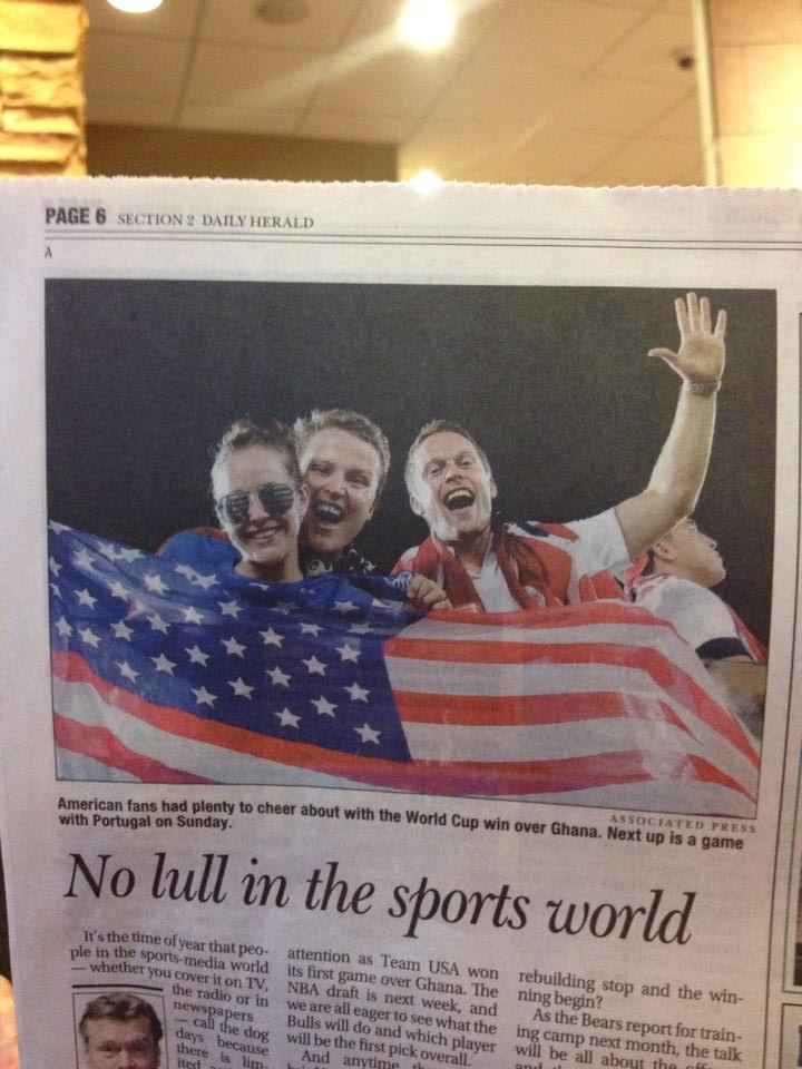 Jeremy Gleason appears in a World Cup news photo
