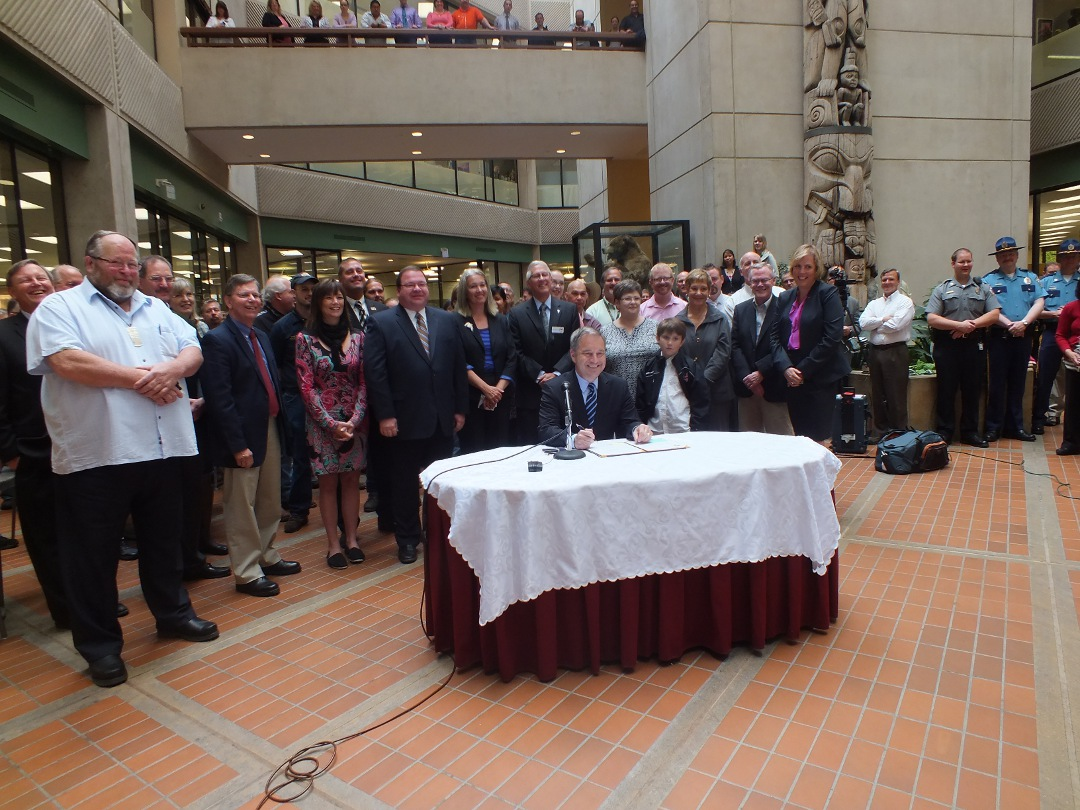 PERS TRS bill signing