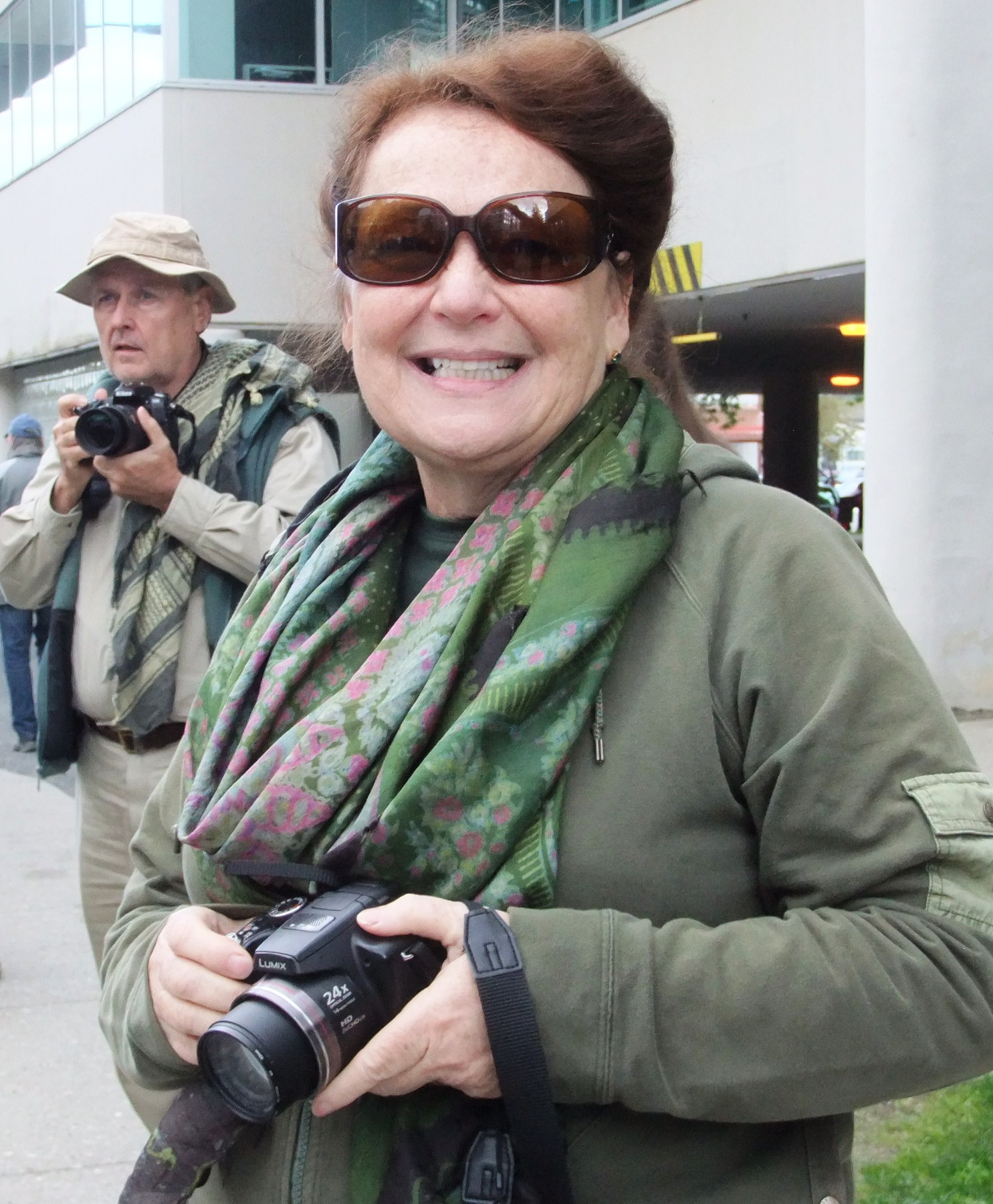 Patricia and Gary McGraw came from Florida for Celebration. She grew up in Juneau. (Photo by Rosemarie Alexander/KTOO)