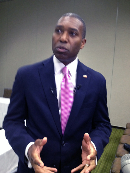 U.S Department of Justice Assistant Attorney General Tony West said DOJ would work with tribes to enhance access to voting.. (Photo by Lori Townsend/APRN)