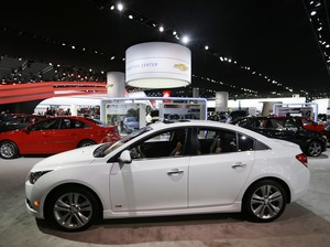 A Chevrolet Cruze is displayed at the North American International Auto Show in Detroit, in January. Carlos Osorio/AP