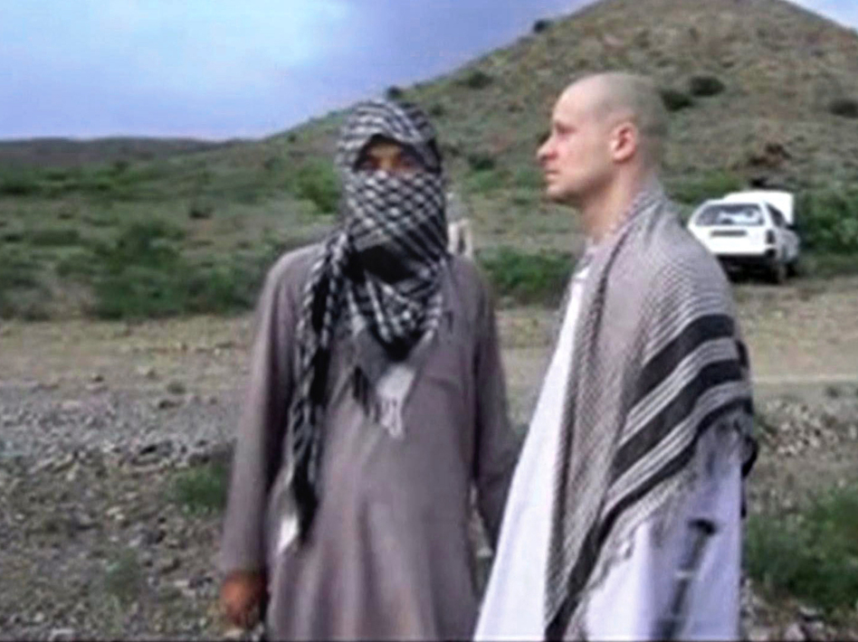 A video frame grab of Army Sgt. Bowe Bergdahl released by the Voice of Jihad website shows the soldier during his captivity. AP