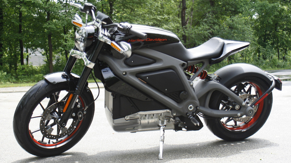 Harley-Davidson's new electric motorcycle can hit 60 mph from a standing start in 4 seconds. The company plans to unveil the LiveWire model Monday in New York. M.L. Johnson/AP