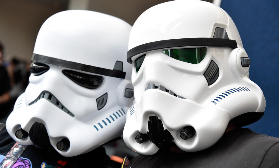 Fans dressed as stormtroopers from Star Wars attend this year's Comic-Con event in San Diego. Frazer Harrison/Getty Images