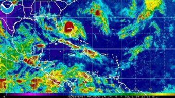 Tropical Storm Arthur spins off the coast of Florida. NOAA