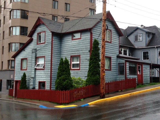 On July 2, Alexander Libbrecht threatened a black woman outside this Juneau boarding house. He's also under investigation for a racist incident at Celebration.