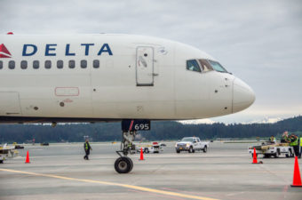 Delta Air Lines started a daily flight between Seattle and Juneau May 29. (Photo by Heather Bryant/KTOO)