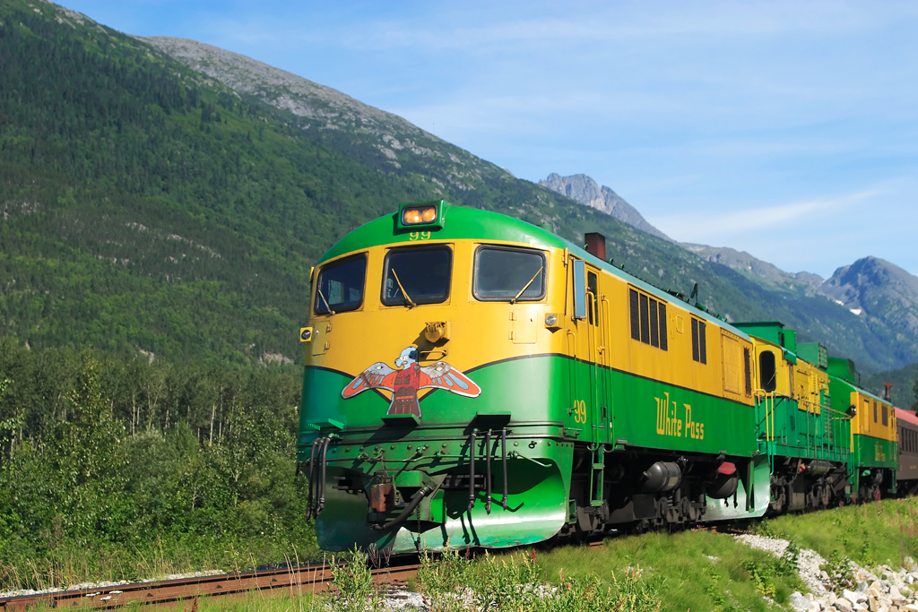 No serious injuries were reported after a White Pass & Yukon Route train reportedly derailed north of Skagway Wednesday afternoon. (Photo by Alan Vernon/Flickr)