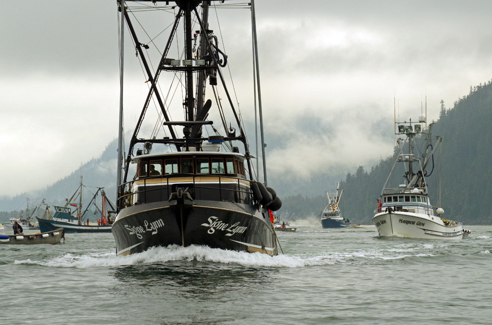 Amalga harbor seine fishing off to a slow start for Purse seine fishing