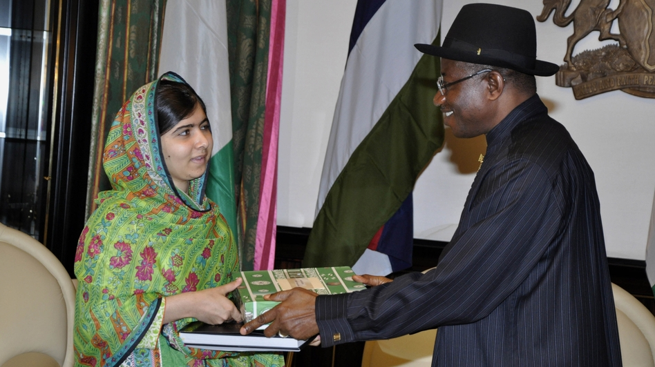 Malala Yousafzai, the well-known Pakistani activist, met with Nigerian President Goodluck Jonathan on Monday to discuss the plight of more than 200 kidnapped girls. AP