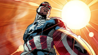 Sam Wilson, the new Captain America. Marvel