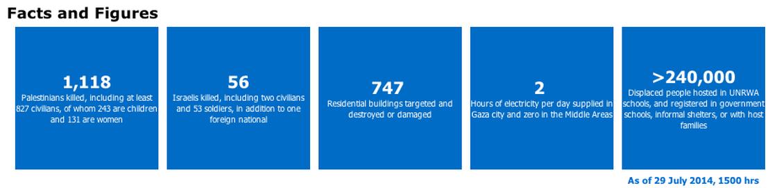 The U.N. breakdown of Palestinian deaths. U.N.